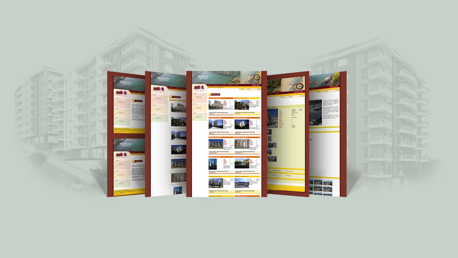 Astek Emlak / Web Sitesi Tasarımı