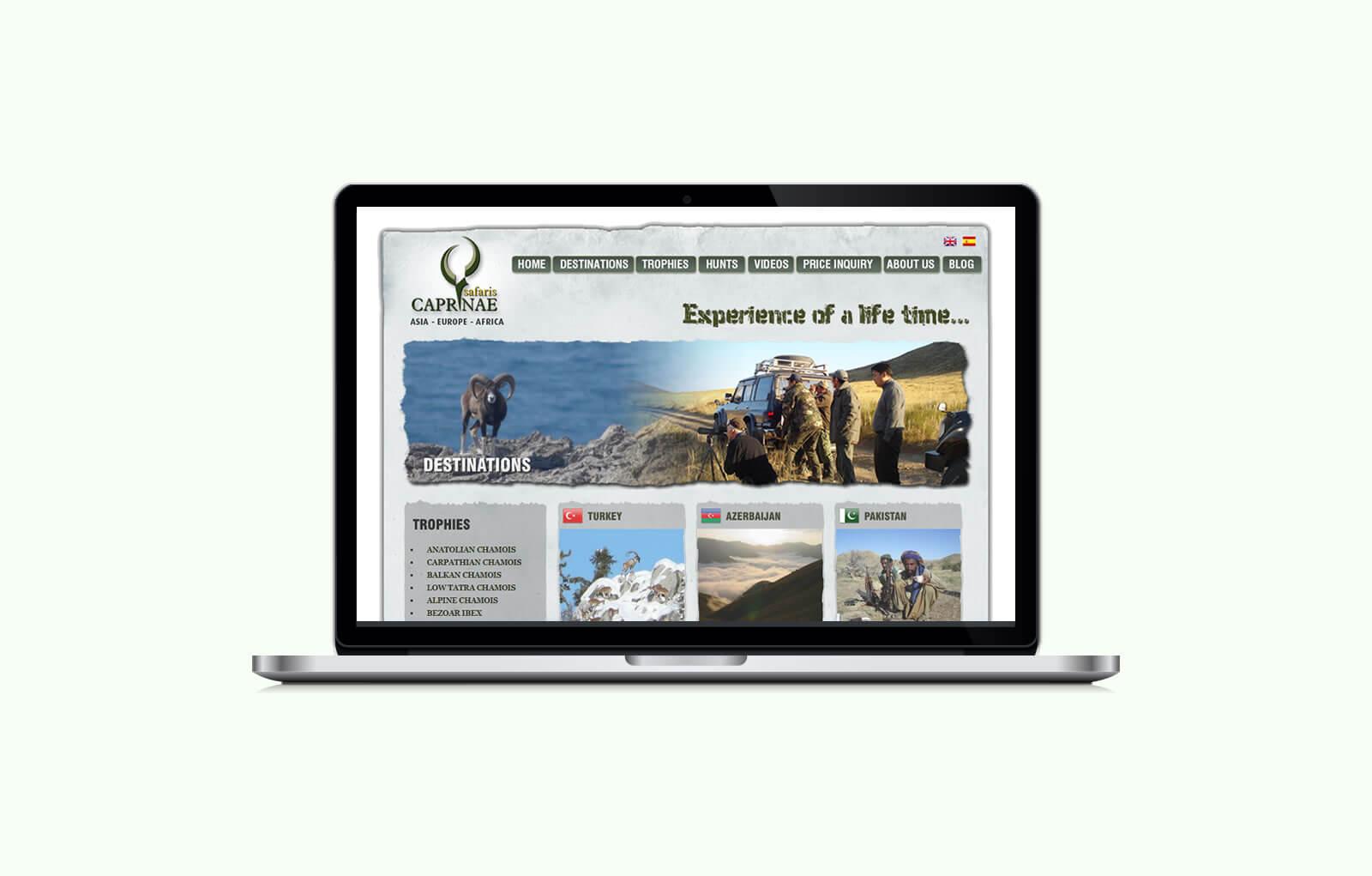 Caprinae Safaris / Web Sitesi Tasarımı