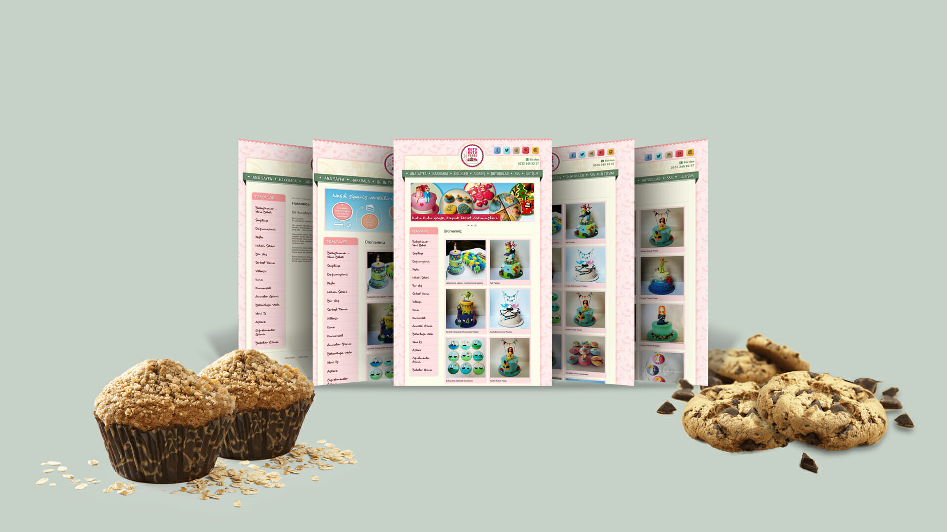 Kutu Kutu Yense / Web Sitesi Tasarımı