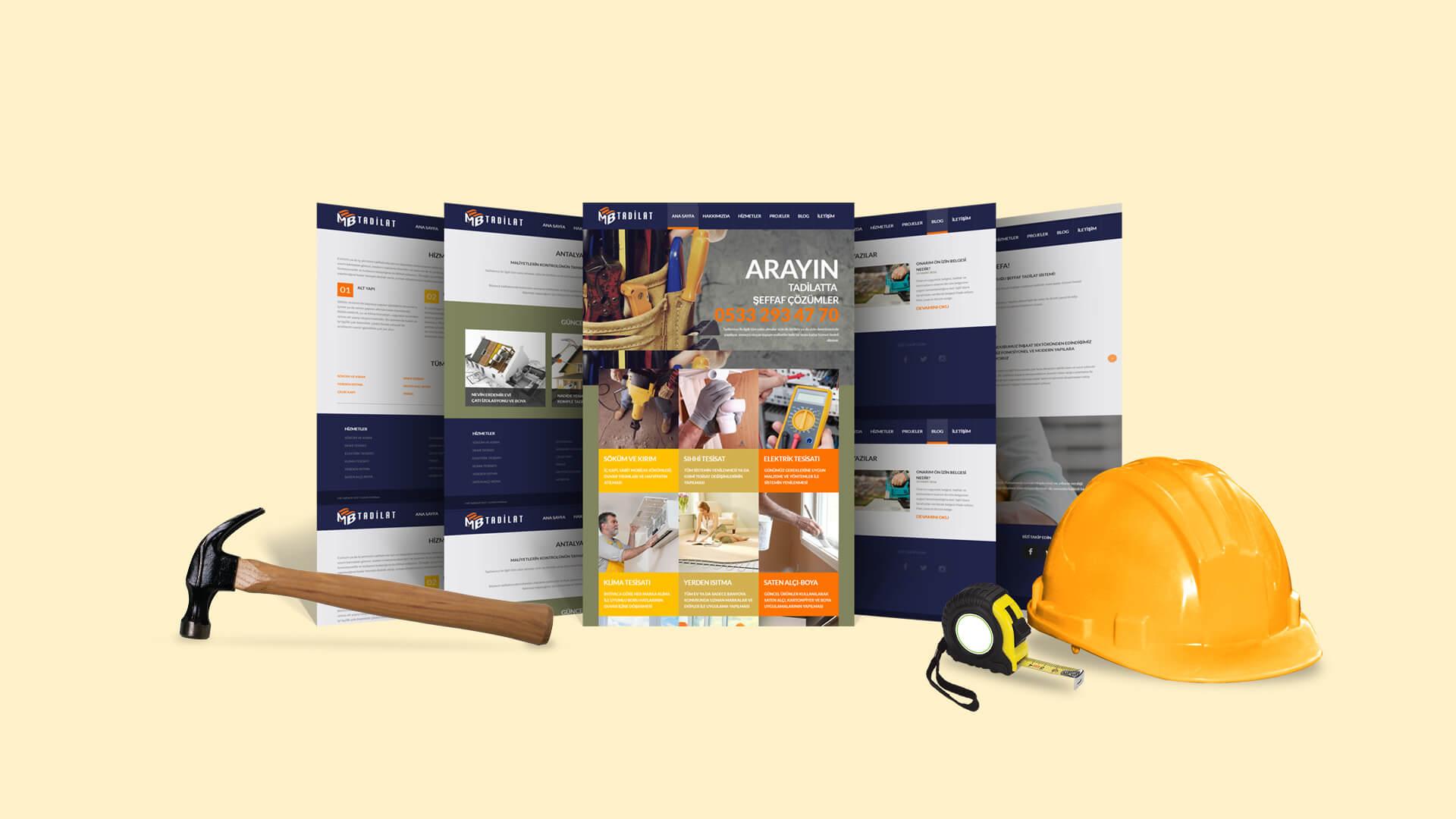 MB Tadilat / Web Sitesi Tasarımı