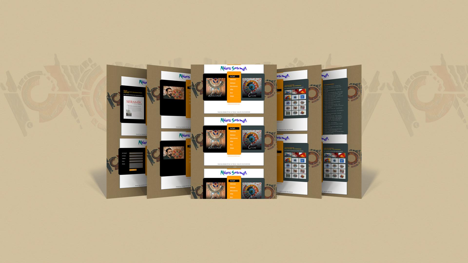Nüans Seramik / Web Sitesi Tasarımı