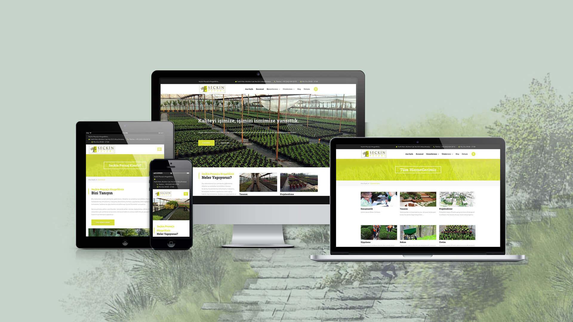 Seçkin Peyzaj / Web Sitesi Tasarımı