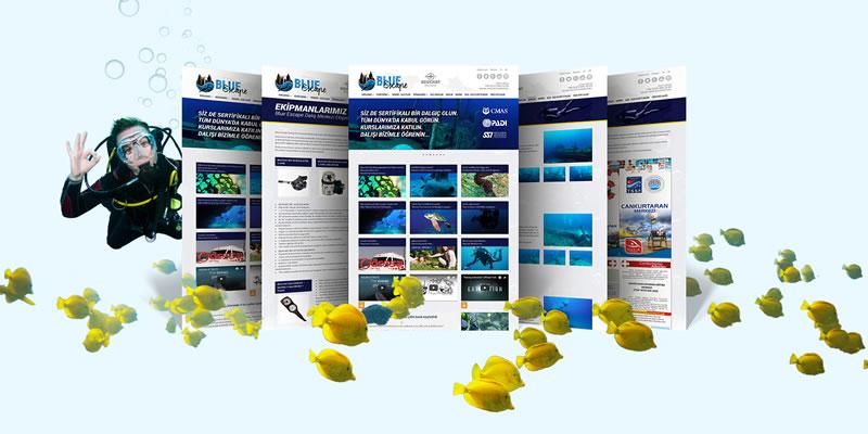 Blue Escpe Diving / Web Sitesi Tasarımı